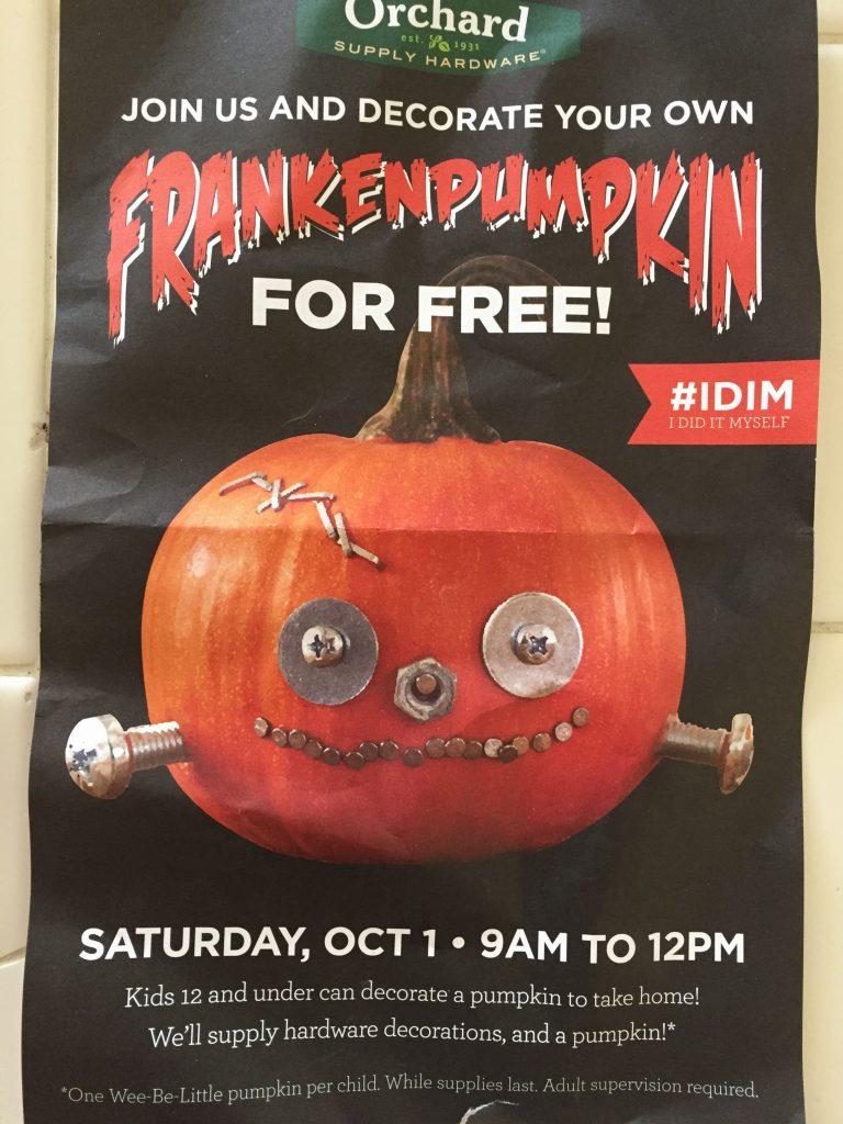 FREE FOR KIDS_Frankenpumpkin at OSH